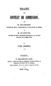 Traité du contrat de commission: Volume1