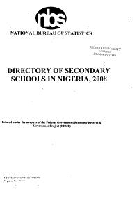 Directory of Secondary Schools in Nigeria Book
