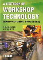A Textbook of Workshop Technology PDF