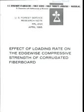 Effect of loading rate on the edgewise compressive strength of corrugated fiberboard