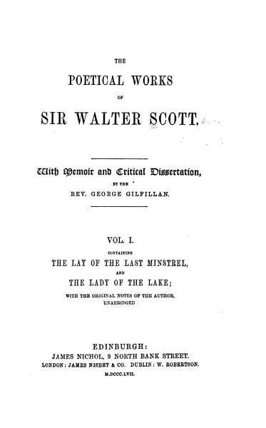Download The Poetical Works of Sir Walter Scott Book