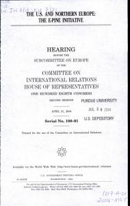 The U S  and Northern Europe PDF