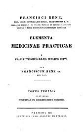 Elementa medicinae practicae: Volume 3