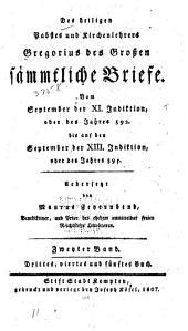 Des heiligen Pabstes und Kirchenlehrers Gregorius des Grossen sämmtliche Briefe: Band 2