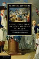 The Cambridge Companion to British Literature of the French Revolution in the 1790s PDF