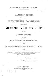 Quarterly Reports of the Chief of the Bureau of Statistics