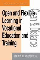 Open and Flexible Learning in Vocational Education and Training PDF
