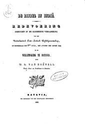 De Bijbel in Indië: redevoering