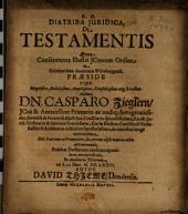 Disputatio Iuridica De Testamentis