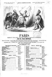 Paris: Drame en cinq actes, vingt-six tableaux, prologue et épilogue. Par Paul Meurice. Musique de Gondois