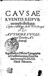 CAVSAE RVENTIS REIPVB. exemplis illustratae