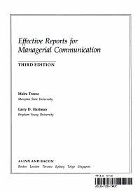 Effective Reports for Managerial Communication