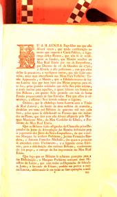 Eu A Rainha Faço saber aos que este Alvará virem, que tendo consideração ao muito que importa á Causa Pública, e segurança destes Reinos, que naõ só se verifiquem os Fundos, que Mandei recolher ao Meu Real Erario por via de Emprestimo, por Decreto de 26 de Outubro de 1796, ... Tenho Approvado, ... que o Estabelecimento de huma Loteria ...