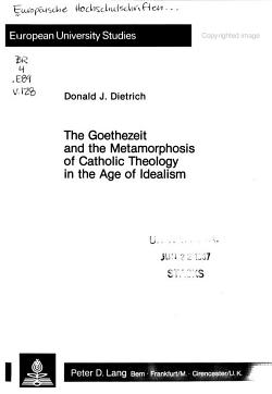 The Goethezeit and the Metamorphosis of Catholic Theology in the Age of Idealism PDF