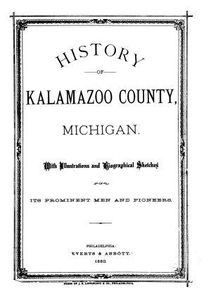 History of Kalamazoo County  Michigan PDF