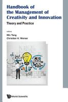 Handbook Of The Management Of Creativity And Innovation  Theory And Practice PDF