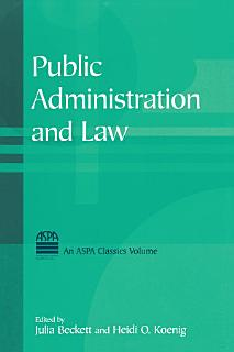 Public Administration and Law Book