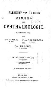 Albrecht von Graefes Archiv für Ophthalmologie: Bände 13-20
