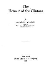 The Honor of the Clintons
