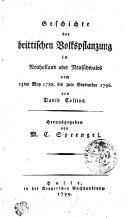 Geschichte der brittischen Volkspflanzung in Neuholland oder Neusüdwales vom 13ten May 1788 bis zum September 1796