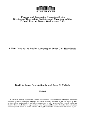 A New Look at the Wealth Adequacy of Older U S  Households PDF