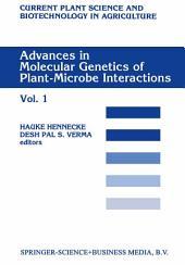 Advances in Molecular Genetics of Plant-Microbe Interactions: Volume 1
