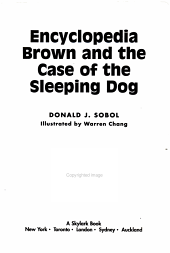 Encyclopedia Brown and the Case of the Sleeping Dog PDF