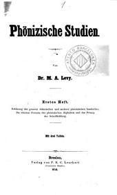 Phönizische Studien: Bände 3-4