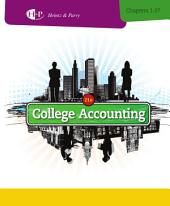 College Accounting, Chapters 1-27: Edition 21