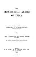 The Presidential Armies of India PDF