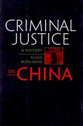 Criminal Justice In China Book PDF