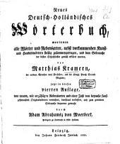 Neues Deutsch-Holländisches Wörterbuch: Volume 2