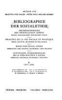 Bibliographie der Sozialethik