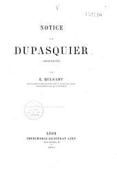 Notice sur Dupasquier: architecte