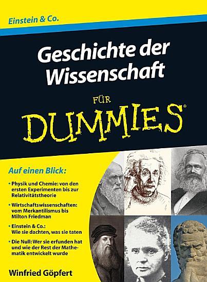 Geschichte der Wissenschaft fur Dummies PDF