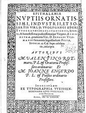 Epitalamia nuptiis Wolfgangi Ederi Typographi Ingolst. et Elisabethae Widmann inscripta
