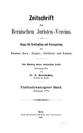 Revue de la Société des juristes bernois: Volume25