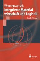 Integrierte Materialwirtschaft und Logistik PDF