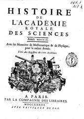 Histoire de l'Academie Royale des Sciences: année MDCCIX, avec les mémoires de mathématique [et] de physique, pour la même année, tirés des registres de cette Académie