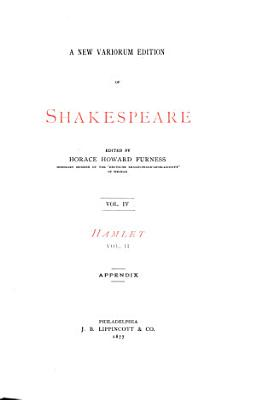 A New Variorum Edition of Shakespeare  Hamlet  1877 PDF