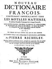 Nouveau Dictionnaire françois: Volume2