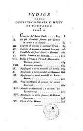 *Vitæ parallelæ: 3: Opuscoli morali di Plutarco volgarizzati da Marcello Adriani il giovine tomo 3, Volume 3