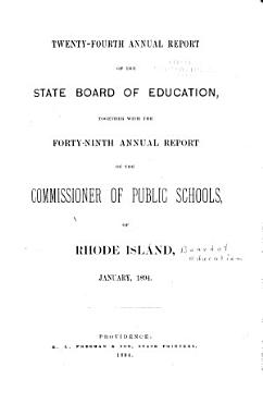 Annual Report of the State Board of Education PDF