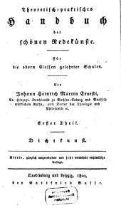 Theoretisch-praktisches Handbuch der schönen Redekünste: Band 1