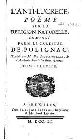 L'anti-Lucrece: poëme sur la religion naturelle