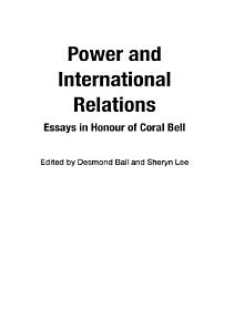 Power and International Relations PDF