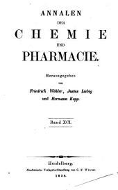 Annalen der Chemie und Pharmacie: Bände 15-16;Bände 91-92