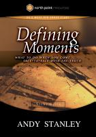 Defining Moments Study Guide PDF