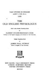 The Old English Physiologus: Volume 63