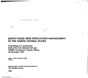 White tailed Deer Population Management in the North Central States PDF